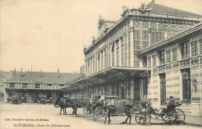 """CPA FRANCE 42 """" St Etienne, Gare de Châteaucreux""""."""