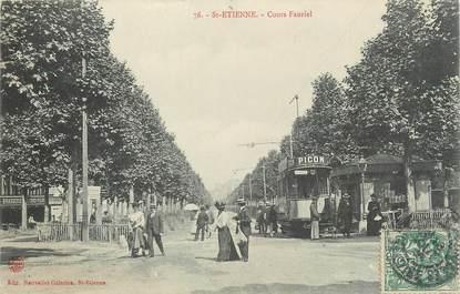 "CPA FRANCE 42 "" St Etienne, Cours Fauriel""."