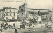 """30 Gard CPA FRANCE 30 """"Aigues Mortes, la Place Saint Louis"""""""