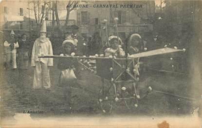 "CPA FRANCE 13 ""Aubagne, Le carnaval, l'aviation""."