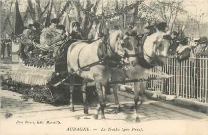 """CPA FRANCE 13 """"Aubagne, Le carnaval, la troïka"""""""