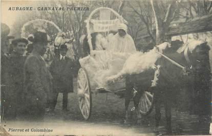 """CPA FRANCE 13 """"Aubagne, Le carnaval, Pierrot et Colombine""""."""