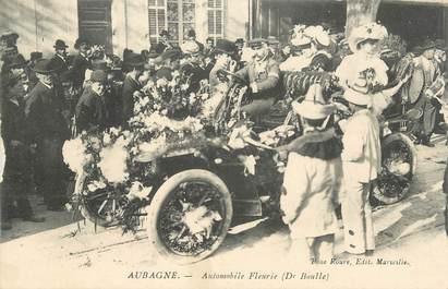 """CPA FRANCE 13 """"Aubagne, Le carnaval, Automobile fleurie""""."""