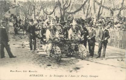 """CPA FRANCE 13 """"Aubagne, Le carnaval, Le triomphe de l'auto""""."""