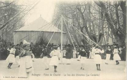 """CPA FRANCE 13 """"Aubagne, Les Fêtes de la Charité, Le jeu des Olivettes""""."""