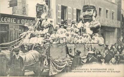 """CPA FRANCE 13 """"Aubagne, Le carnaval, Gargantua et ses serviteurs en voyage""""."""
