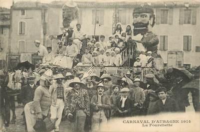 """CPA FRANCE 13 """"Aubagne, Le carnaval, La fourchette""""."""