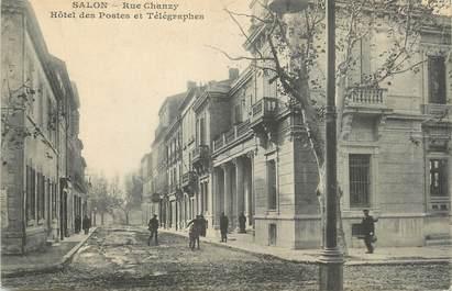 """CPA FRANCE 13 """"Salon, Rue Chanzy, Hôtel des Postes et Télégraphes""""."""