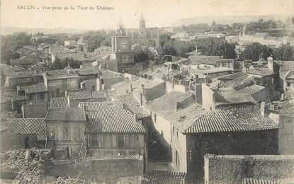 """CPA FRANCE 13 """"Salon, Vue prise de la tour du château""""."""