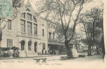 """CPA FRANCE 13 """"Salon, Le Théâtre""""."""