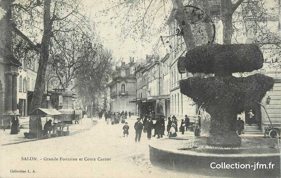 Cpa france 13 salon grande fontaine et cours carnot 13 bouches du rhone salon de - Cours de cuisine bouches du rhone ...