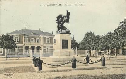 "CPA FRANCE 73 ""Albertville, monument des Mobiles"""
