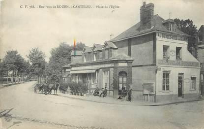 """CPA FRANCE 76 """"Canteleu, Place de l'église""""."""