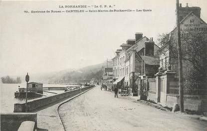 """CPA FRANCE 76 """"Canteleu - St Martin de Rocheville, Les quais""""."""