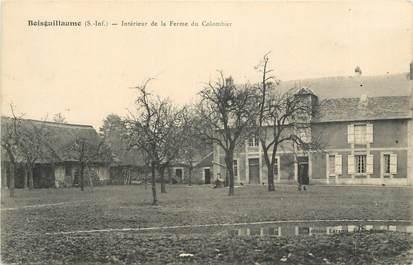 """CPA FRANCE 76 """"Boisguillaume, Intérieur de la ferme du Colombier""""."""