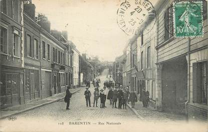 "CPA FRANCE 76 ""Barentin, Rue Nationale""."