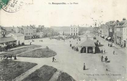 """CPA FRANCE 76 """"Bacqueville, La place""""."""
