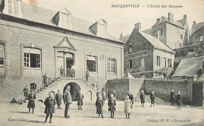 """CPA FRANCE 76 """"Bacqueville, L'école des garçons""""."""
