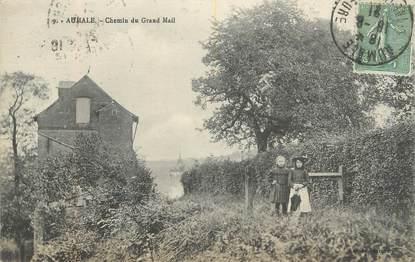 "CPA FRANCE 76 ""Aumale, Chemin du Grand Mail""."