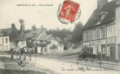 "CPA FRANCE 76 ""Aumale, Rue du Hamel""."