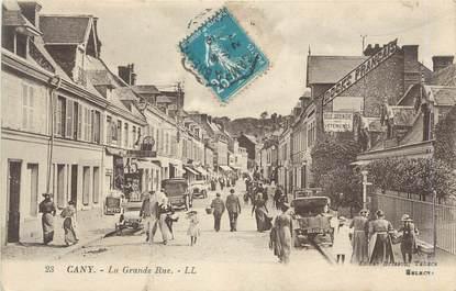 """CPA FRANCE 76 """"Cany, La grande rue""""."""