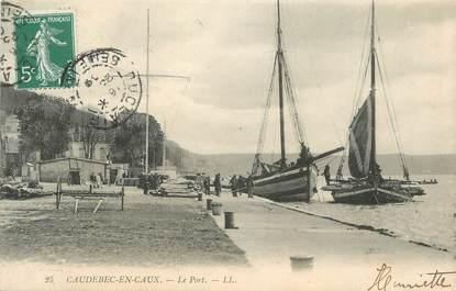 """CPA FRANCE 76 """" Caudebec en caux, Le port""""."""