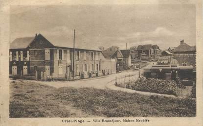 "CPA FRANCE 76 "" Criel Plage, Villa Beauséjour""."