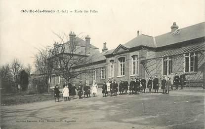 """CPA FRANCE 76 """" Déville les Rouen, Ecole des filles""""."""