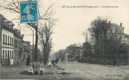 """CPA FRANCE 76 """" Déville les Rouen, Avenue Carnot""""."""