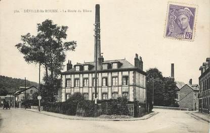 """CPA FRANCE 76 """" Déville les Rouen, La route du Hâvre""""."""