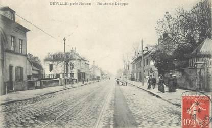 """CPA FRANCE 76 """" Déville les Rouen, Route de Dieppe""""."""