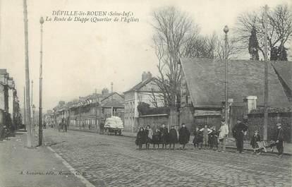 """CPA FRANCE 76 """" Déville les Rouen, La route de Dieppe""""."""