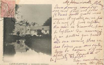 """CPA FRANCE 76 """" Cany Clasville, Beurrerie centrale""""."""