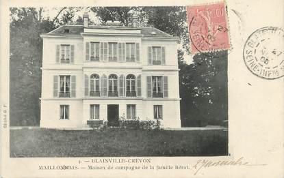 """CPA FRANCE 76 """" Blainville - Crevon, Maison de campagne de la famille Bérat""""."""