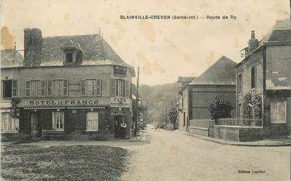"CPA FRANCE 76 "" Blainville - Crevon, Route de Ry""."