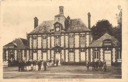 """CPA FRANCE 76 """" Amfreville la Mi-Voie, La Mairie""""."""
