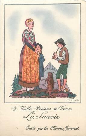 """CPA FRANCE 73 """" Les vieilles provinces de France, publicité sur les Farines Jammet""""."""