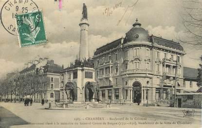 """CPA FRANCE 73 """" Chambéry, Boulevard de la Colonne""""."""
