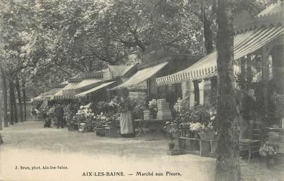"""CPA FRANCE 73 """" Aix les Bains, Le marché aux fleurs""""."""