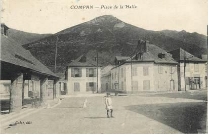 """CPA FRANCE 65 '' Compan, Place de la Halle""""."""