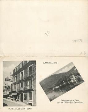 """CPA LIVRET FRANCE 65 """" Lourdes, Vues""""."""
