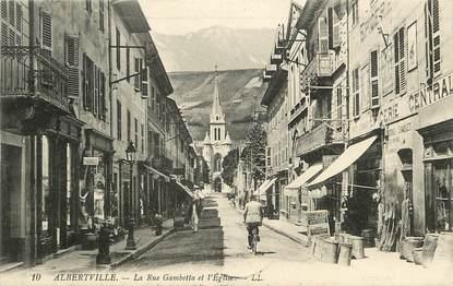 """CPA FRANCE 73 """"Albertville, rue Gambetta"""""""