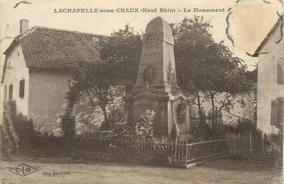 """CPA FRANCE 68 """" La Chapelle sous Chaux, Le monument aux morts""""."""