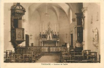 """CPA FRANCE 25 """"Thoraise, Intérieur de l'église""""."""