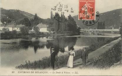 """CPA FRANCE 25 """"Environs de Besançon, Le Doubs à Velosse""""."""