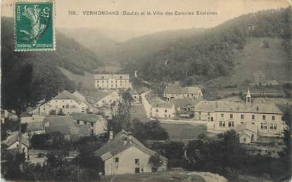 """CPA FRANCE 25 """"Vermodans, La villa des Colonies scolaires""""."""