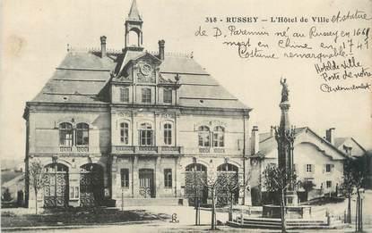 """CPA FRANCE 25 """"Russey, L'Hôtel de Ville""""."""