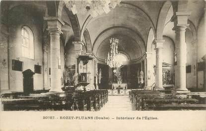 """CPA FRANCE 25 """" Rozet Fluans, Intérieur de l'église""""."""