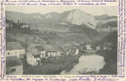 """CPA FRANCE 25 """"Mouthier, Le village bas""""."""