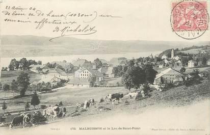 """CPA FRANCE 25 """"Malbuisson, Le lac de St Point""""."""
